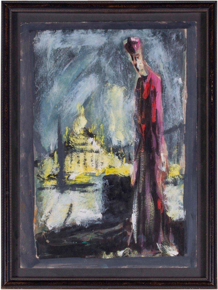 Cardinal Before Hagia Sophia  by Joseph Jankowski