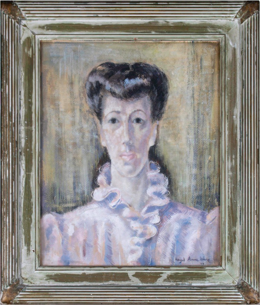 Hazel Anne Ware - Portrait of Woman with Ruffle Blouse