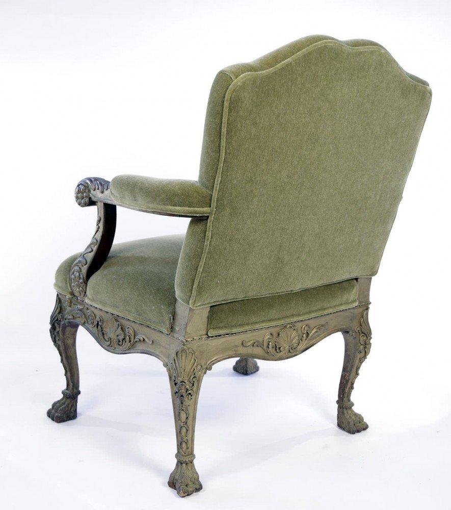 Georgian Style Painted Armchair, 19thc.