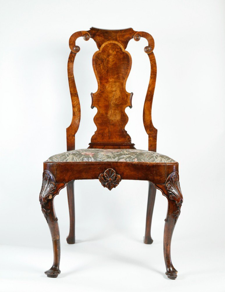 18th Century English Mahogany Carved Side Chair by 18thc. British School