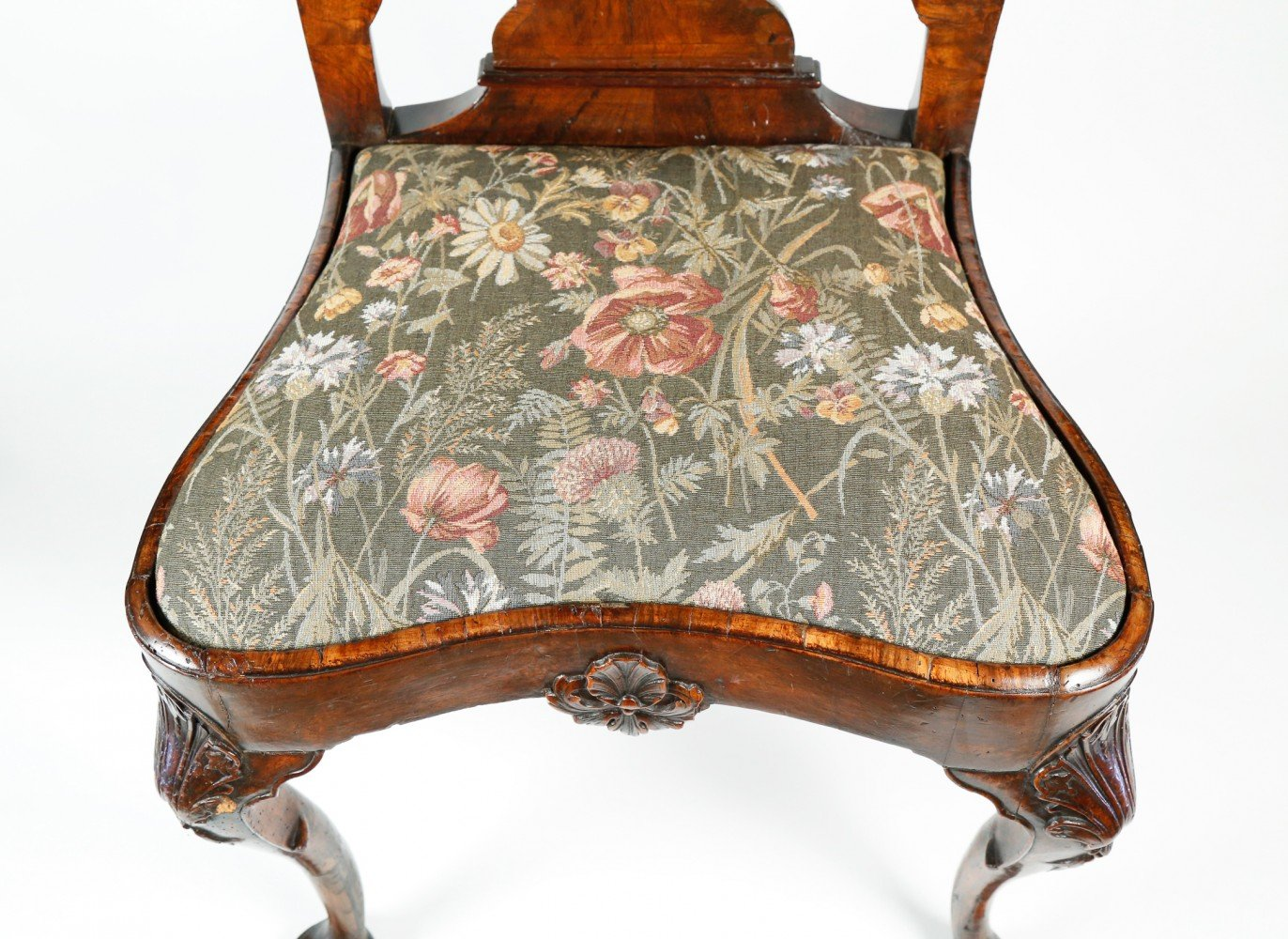18th Century English Mahogany Carved Side Chair by 18th Century British School