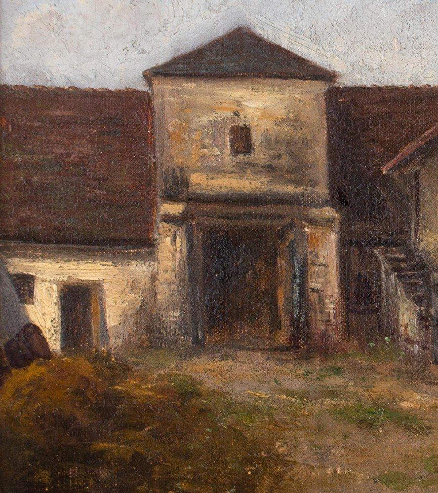 19th Century European Courtyard Scene