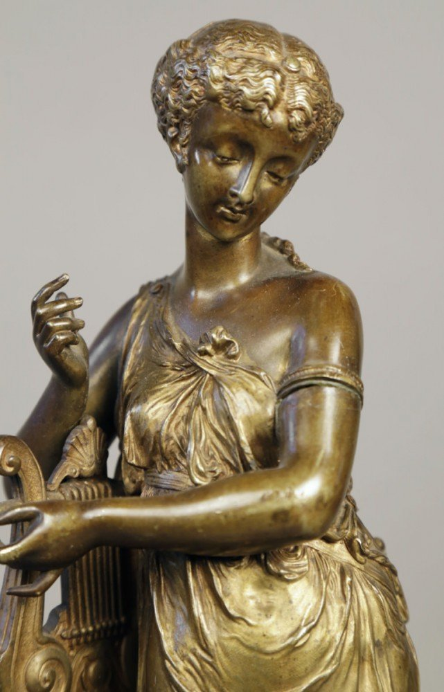 Bronze Figure of the Muse Erato by 19th Century French School