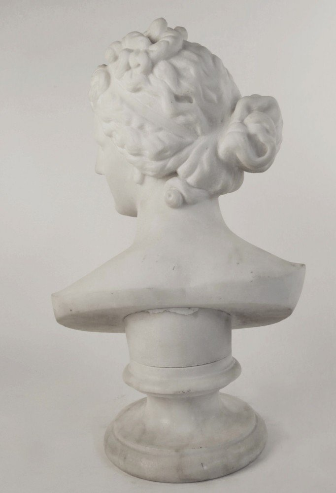 Carved Marble Bust of the Goddess Aphrodite by Early 19th Century Italian School
