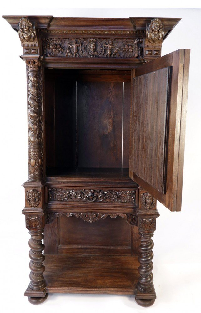 19th Century Italian Renaissance Revival Court Cupboard by 19th Century Italian School