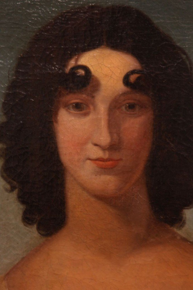Portrait of a Girl with Curl