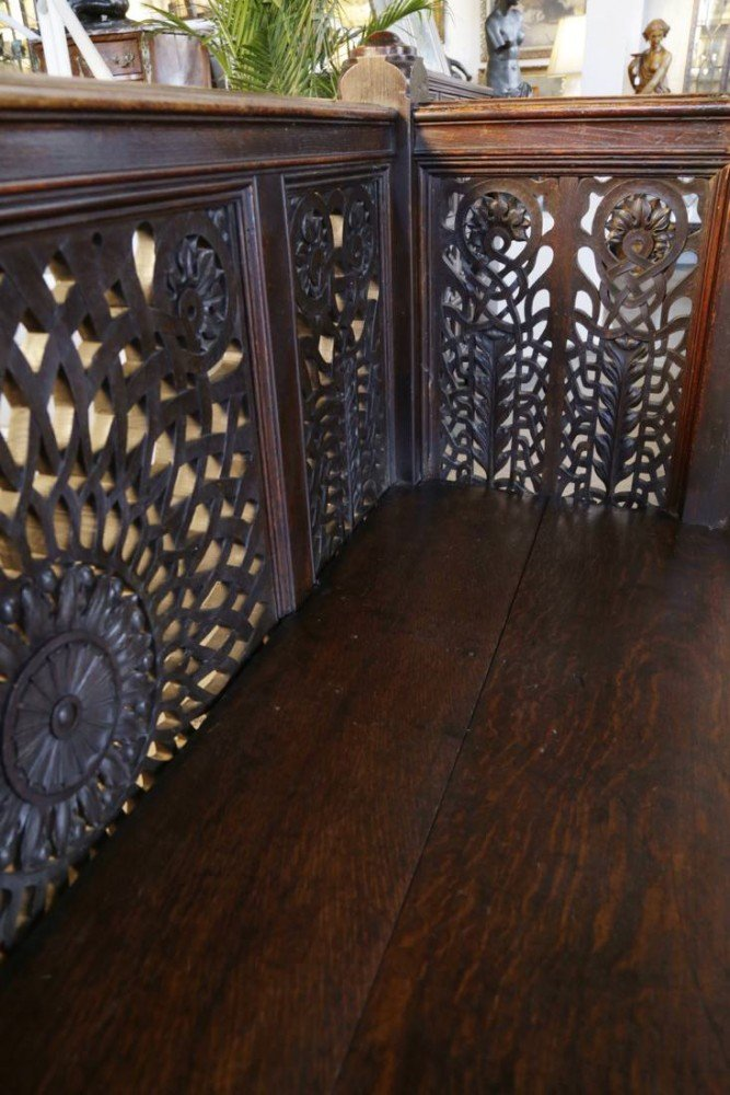 American Aesthetic Movement Pierce Carved Balcony Rail by 19th Century American School