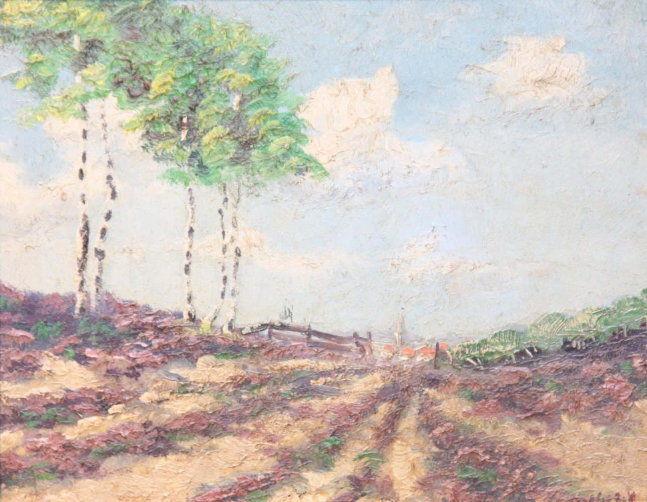 Summer Landscape with Distant Village
