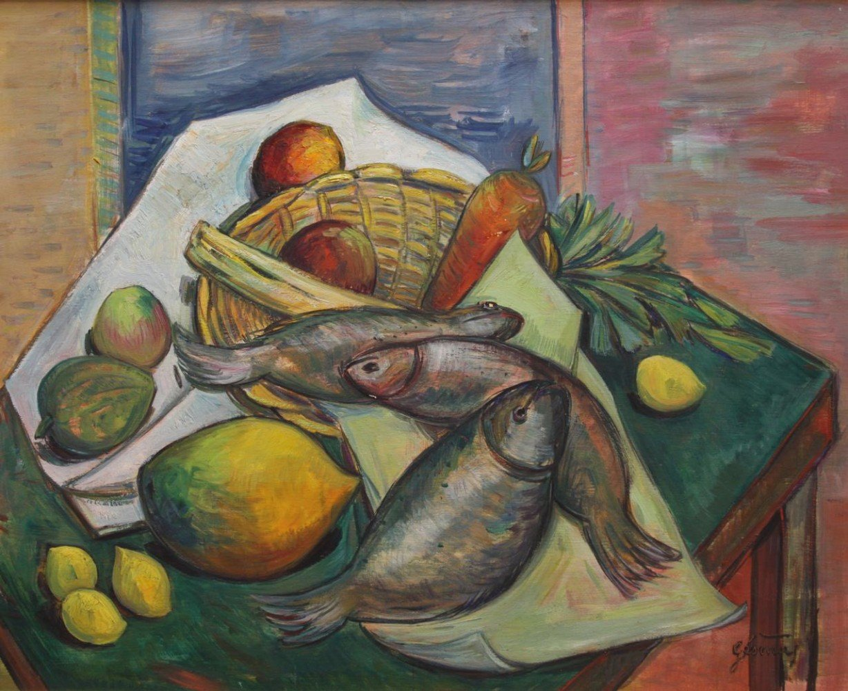Still Life with Fish, Fruit and Vegetables