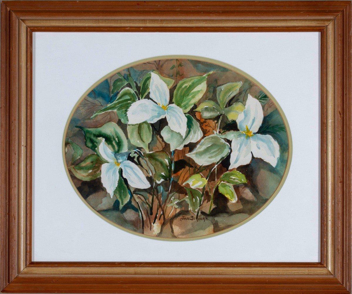 Jann Schanke (American 20thc.) Floral Study