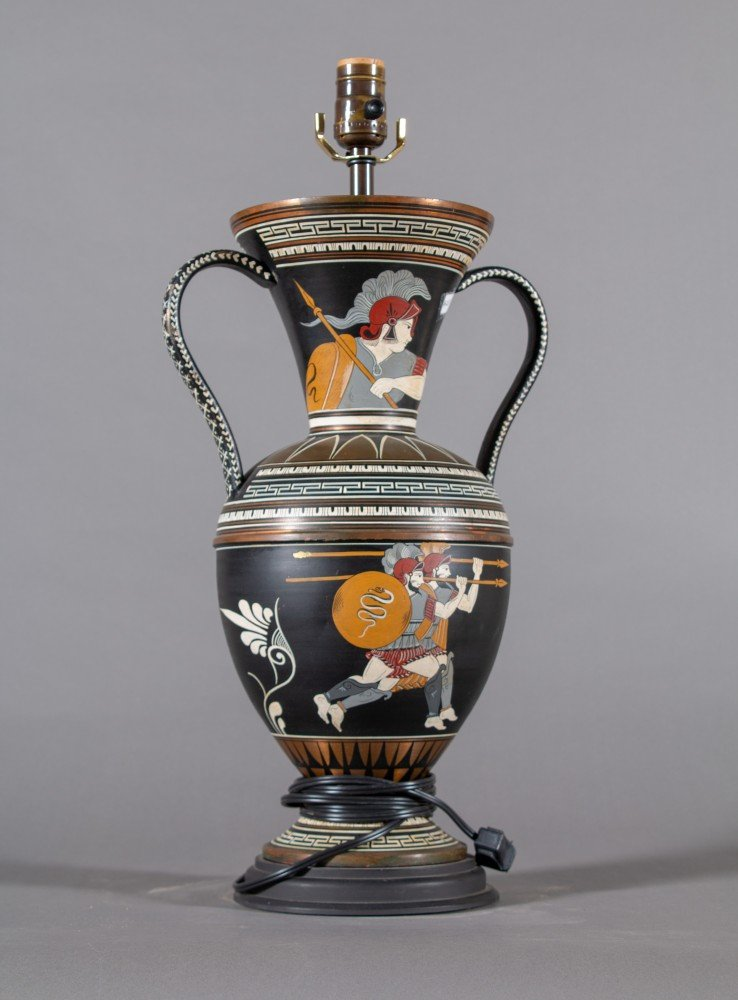 Mid 20th Century Lamp in the Form of a Two Handled Grecian Urn