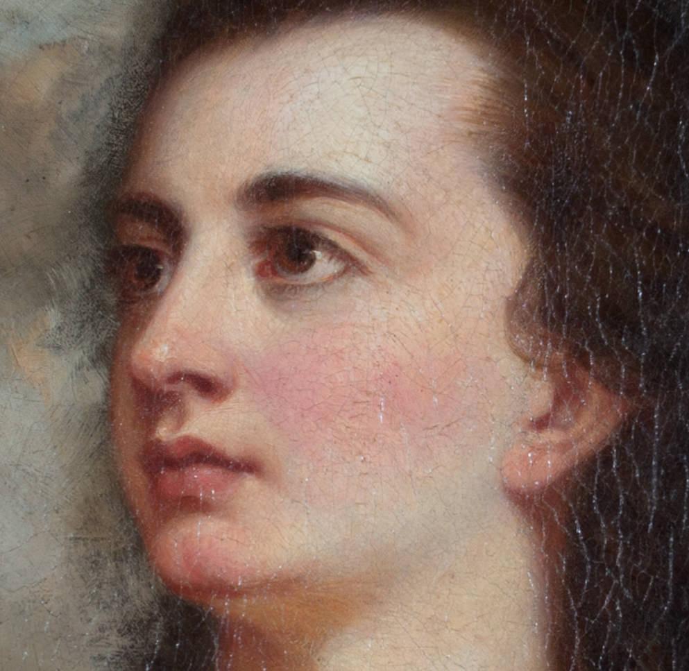 J. B. Henderson, 19th Century British School - Female Portrait, Divine Gaze