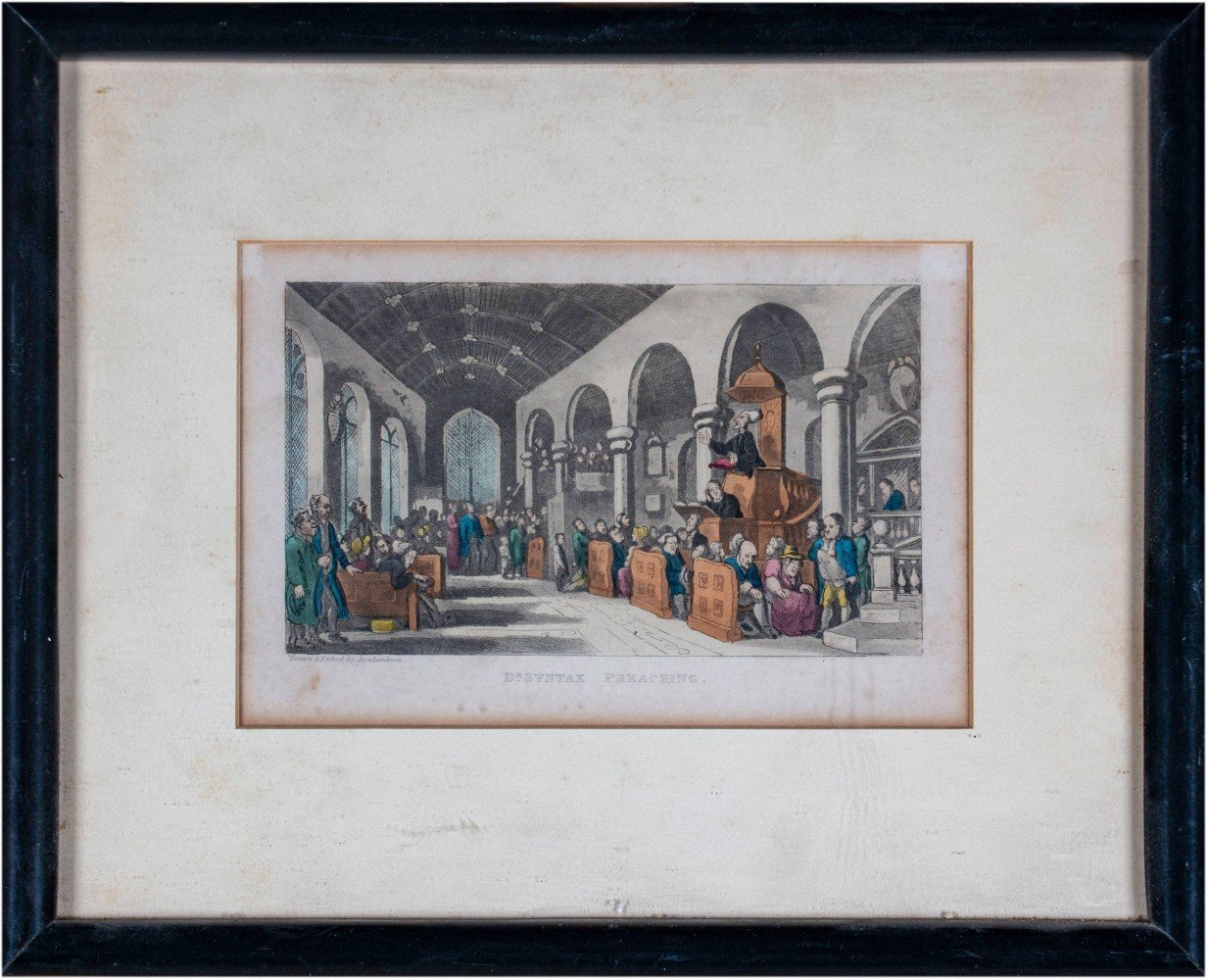 43 Set of Thirteen English Prints from the Tours of Doctor Syntax, Mid 19th Century