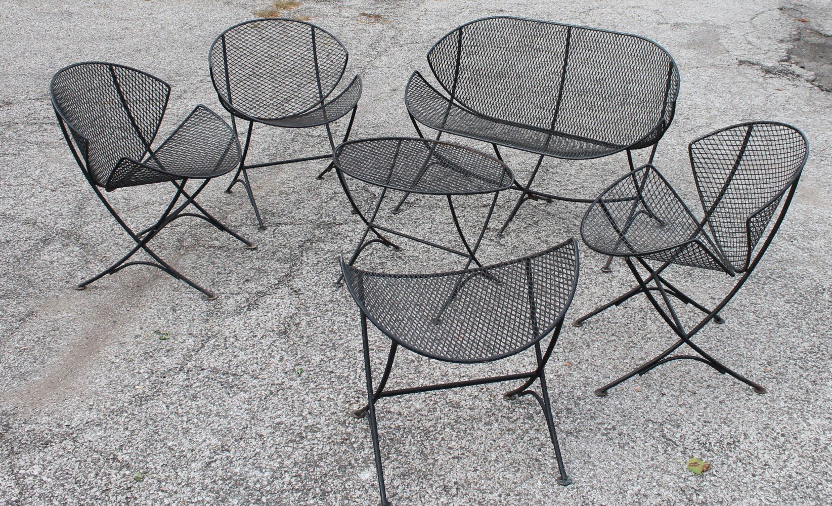 Maurizio Tempestini Clamshell or Orange Slice Garden Furniture by 20th Century Italian School
