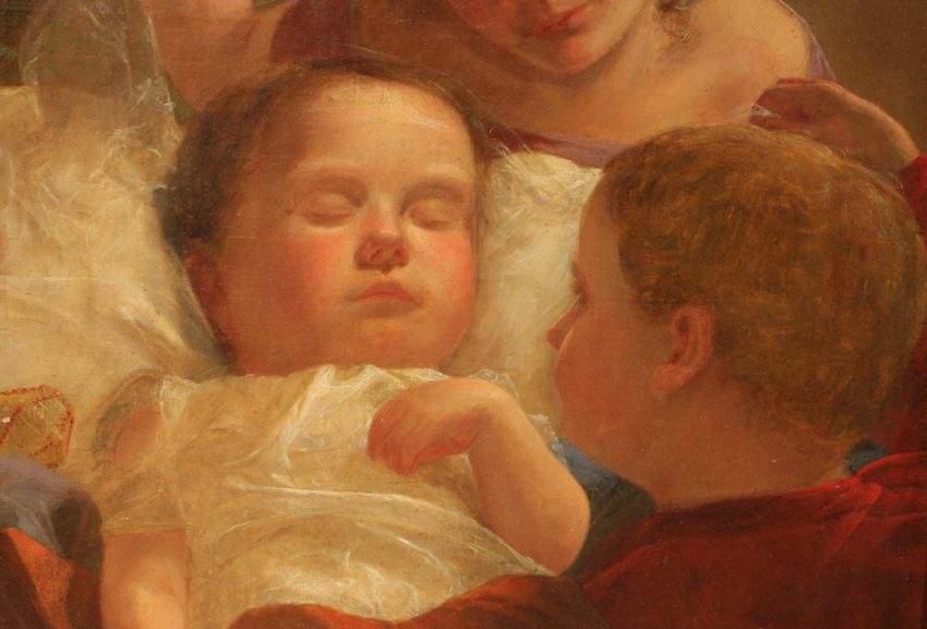 C.T. Weber (American 19th c.) The Sleeping Baby