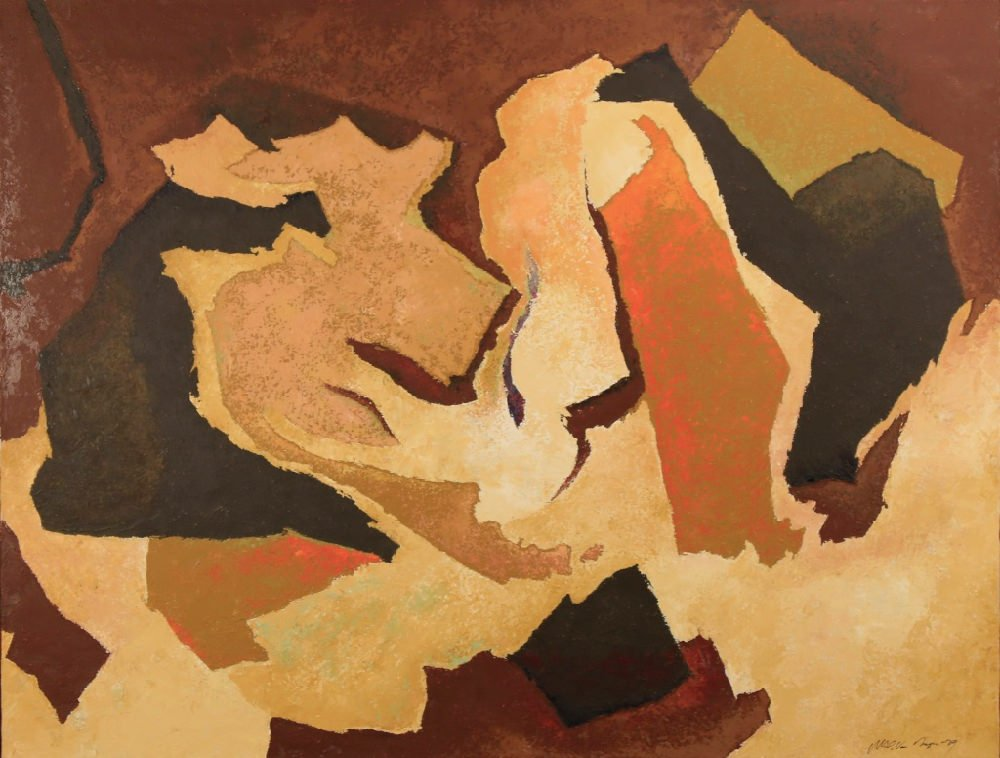 Abstract in Brown and Orange by William A. Van Duzer