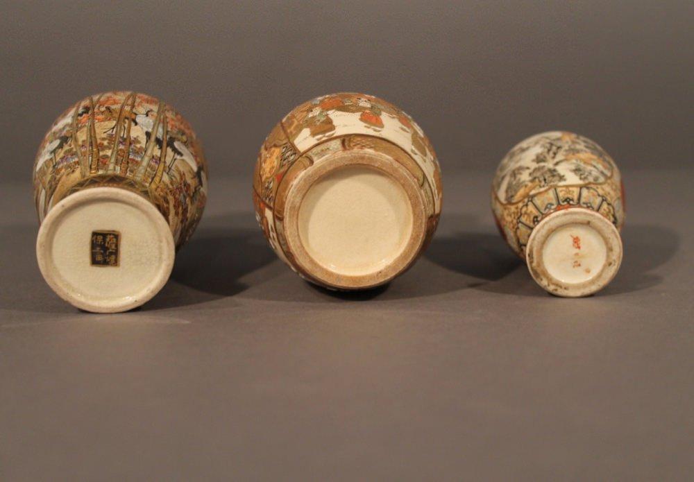 Five Satsuma Vases