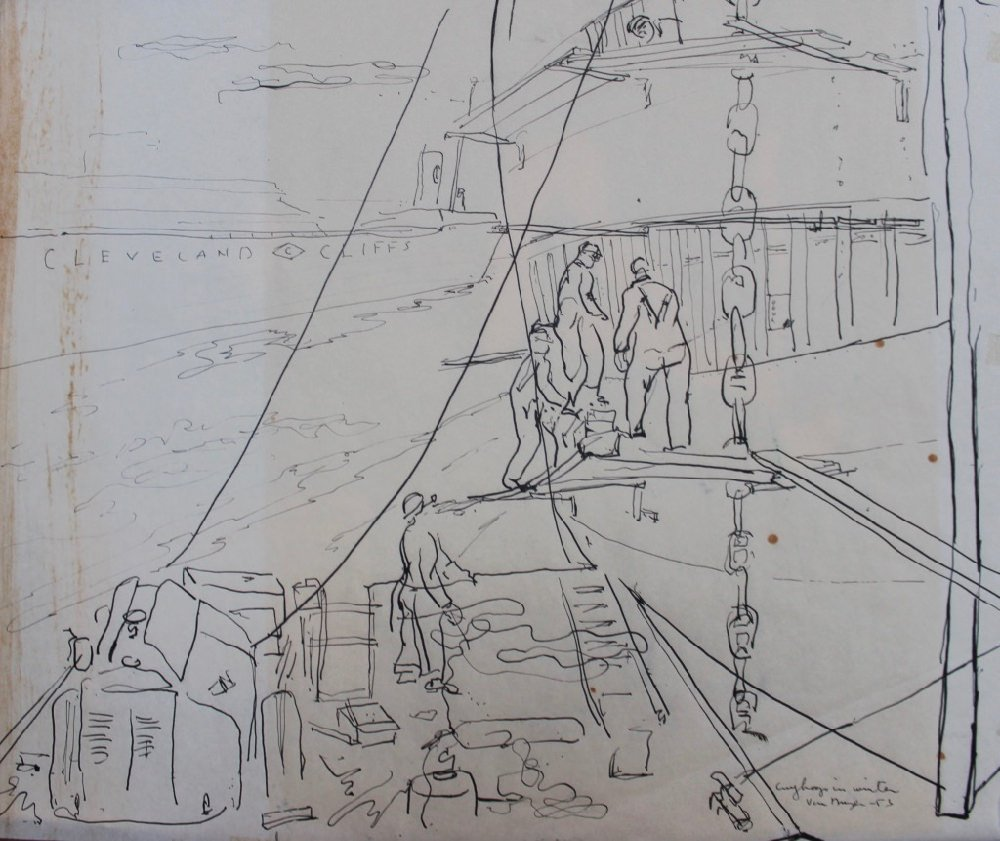 8 Drawings by William A. Van Duzer