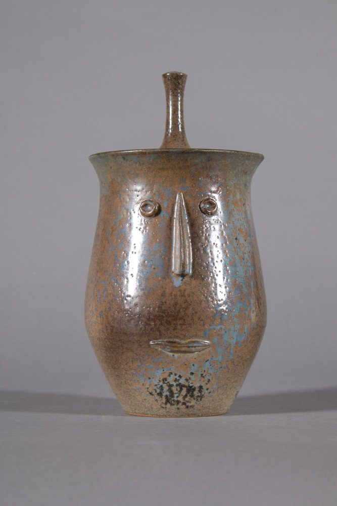 Decorative Arts: Studio Pottery Portrait Vase