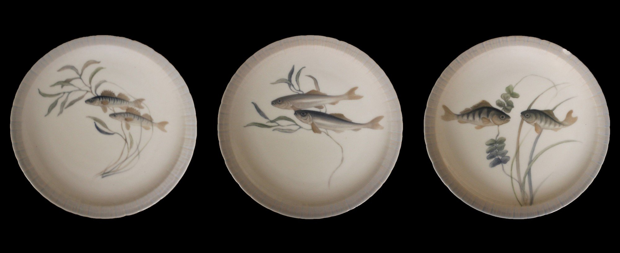 Eleven Royal Copenhagen Fish Plates