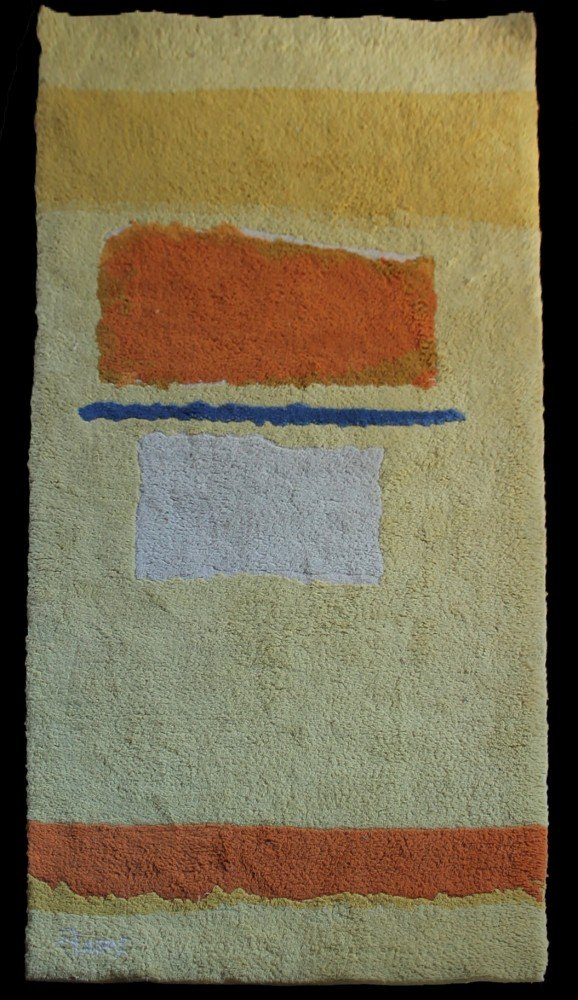 Theodore Stamos (American 1922-1997) - Abstract, Wool Tapestry