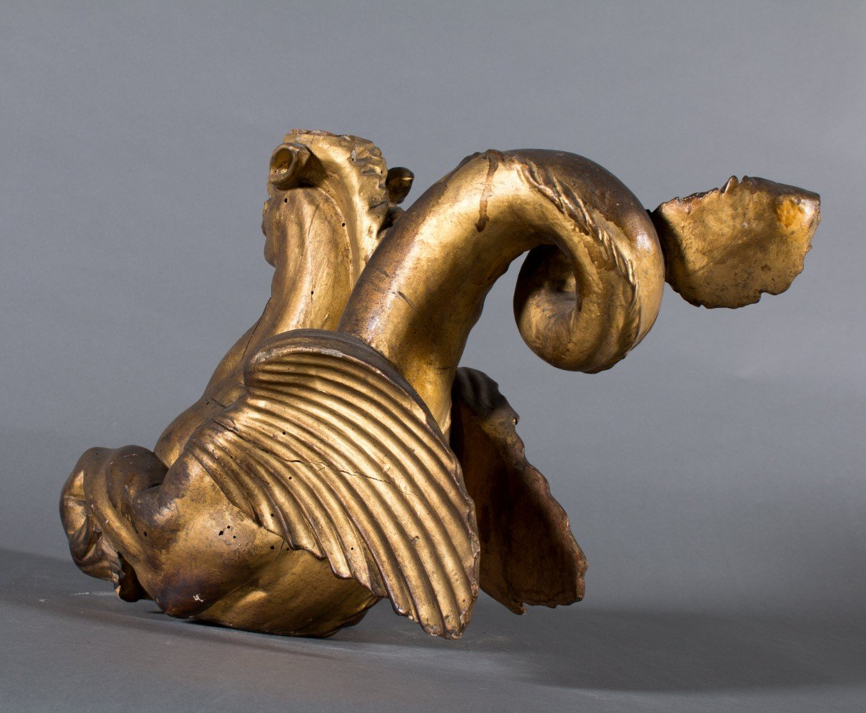 Pair of Carved Gilt 18th/19th Century Italian Hippocampi