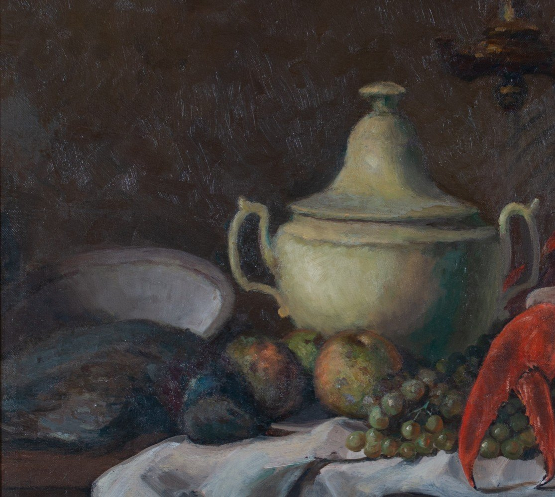 Attributed to Francois Bernard, Still Life with Lobster