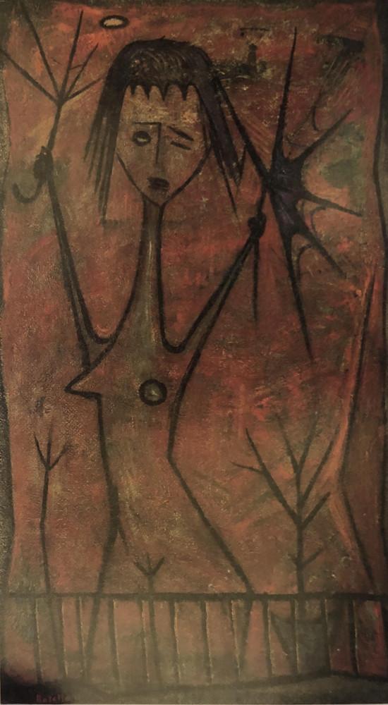 Niña con Sombrilla by Ángel Botello