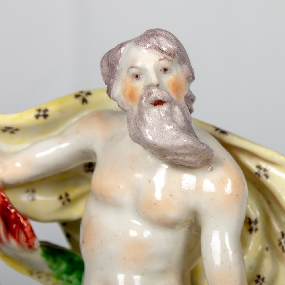 Bow Porcelain, Figure of Neptune Emblematic of the Sea