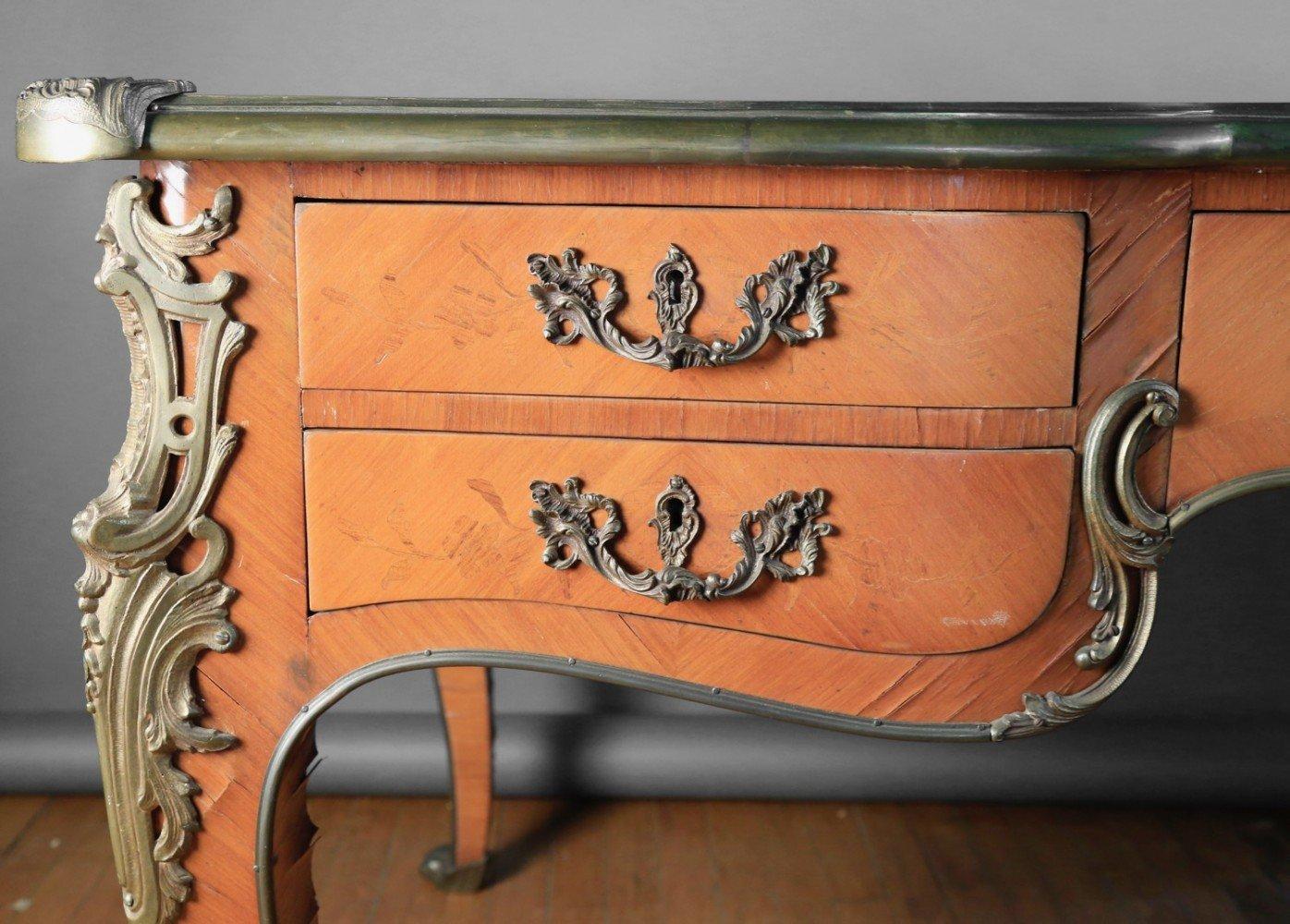 A Louis XVth Style Bureauplat, modern