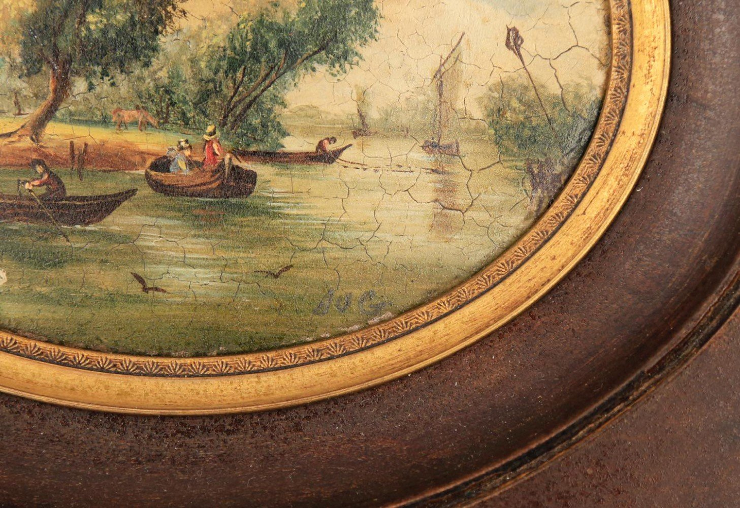 A Pair of Miniature English or Continental Decorative Paintings