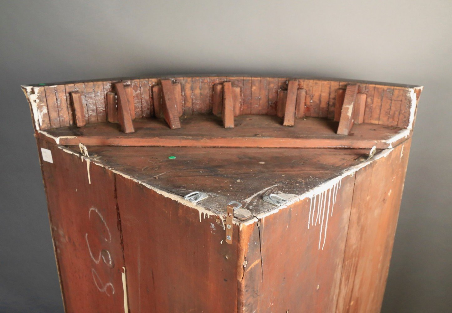 English George III Mahogany Inlaid Hanging Corner Cabinet