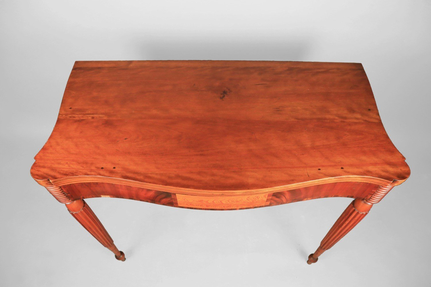 American Sheraton Cherry Card Table