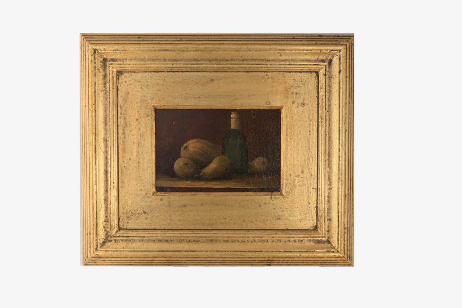 20thc. School Still life with Bottle and Fruit