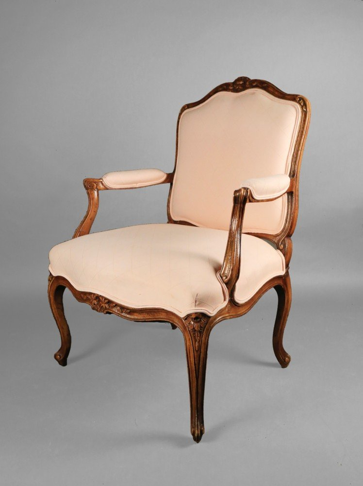 A Louis XVth Style Open Armchair