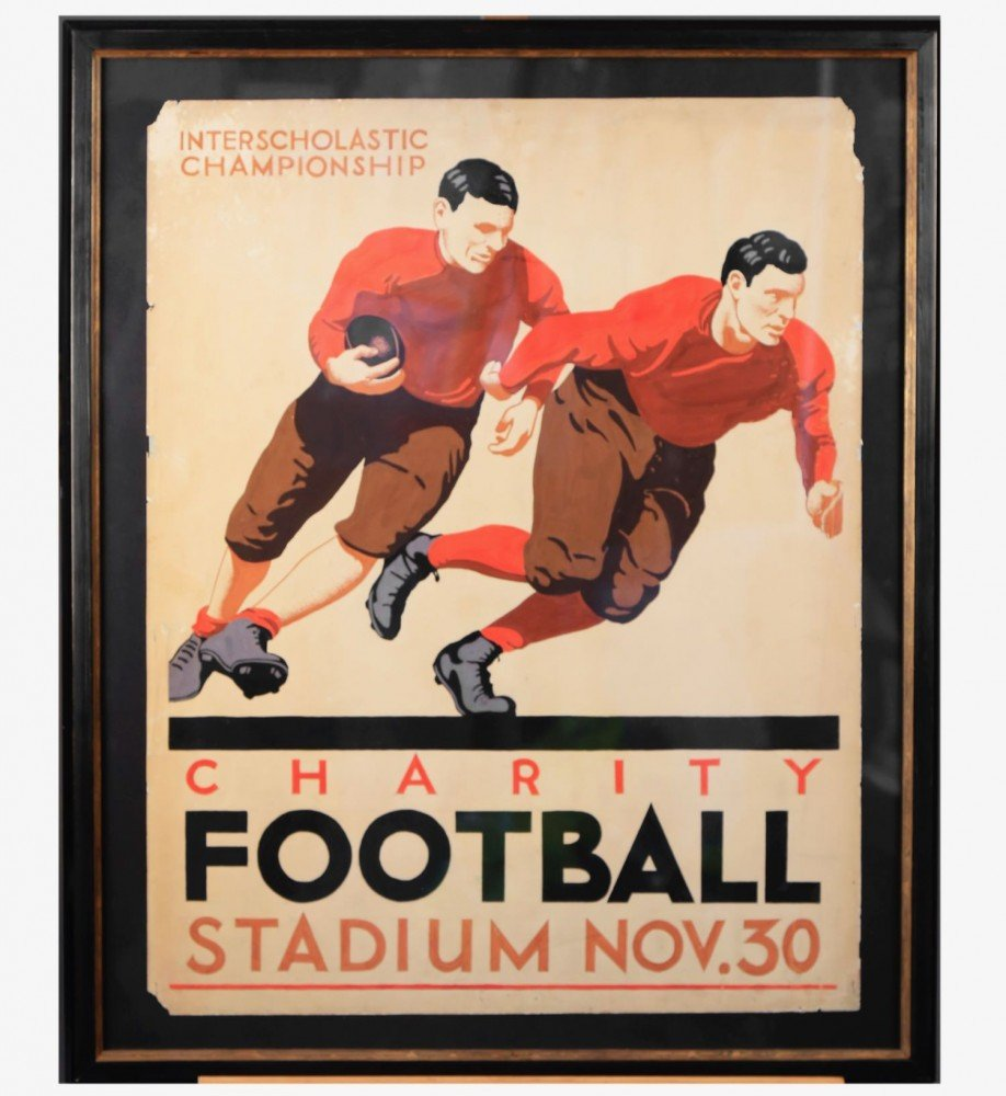 Charity Football, Interscholastic Championship, November 30 by William A. Van Duzer