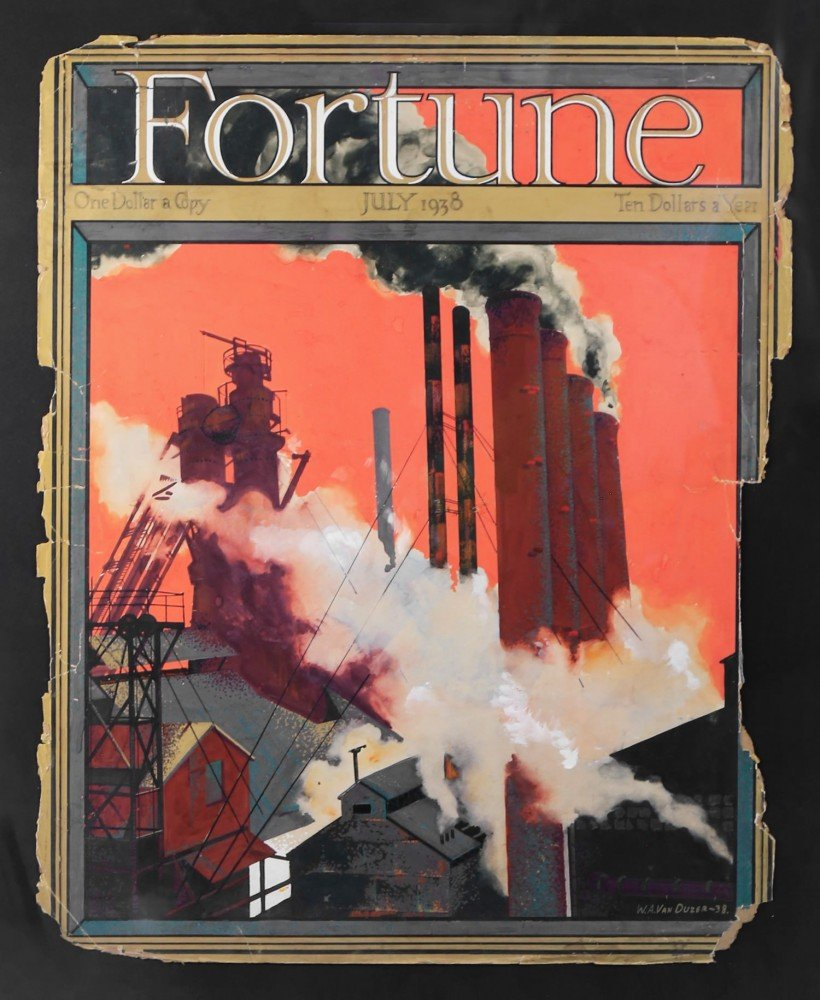 William A.  Van Duzer - Fortune, July 1938 by William A. Van Duzer