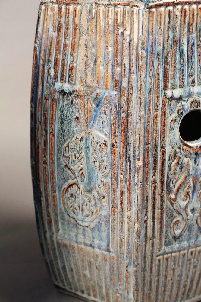 Pair of Chinese Glazed ceramic Garden seats