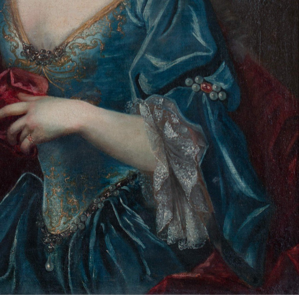 Continental Portrait of Woman with Apple