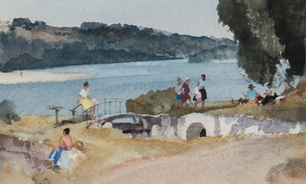 Holiday on the Loire by Sir William Russell Flint