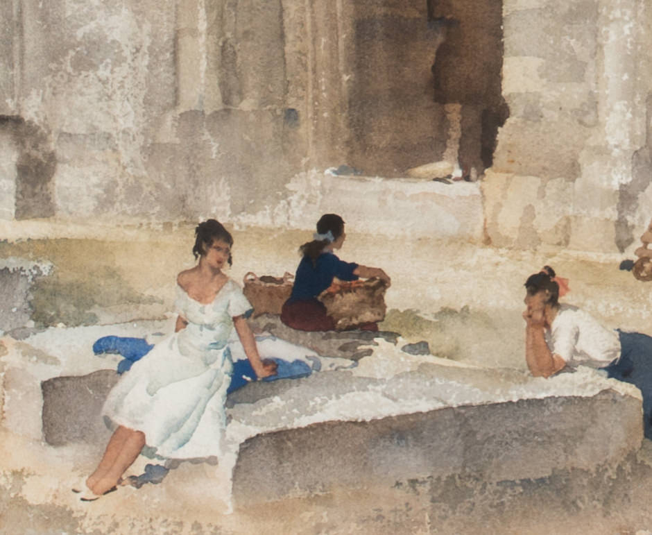 Figures Amid Ruins by Sir William Russell Flint