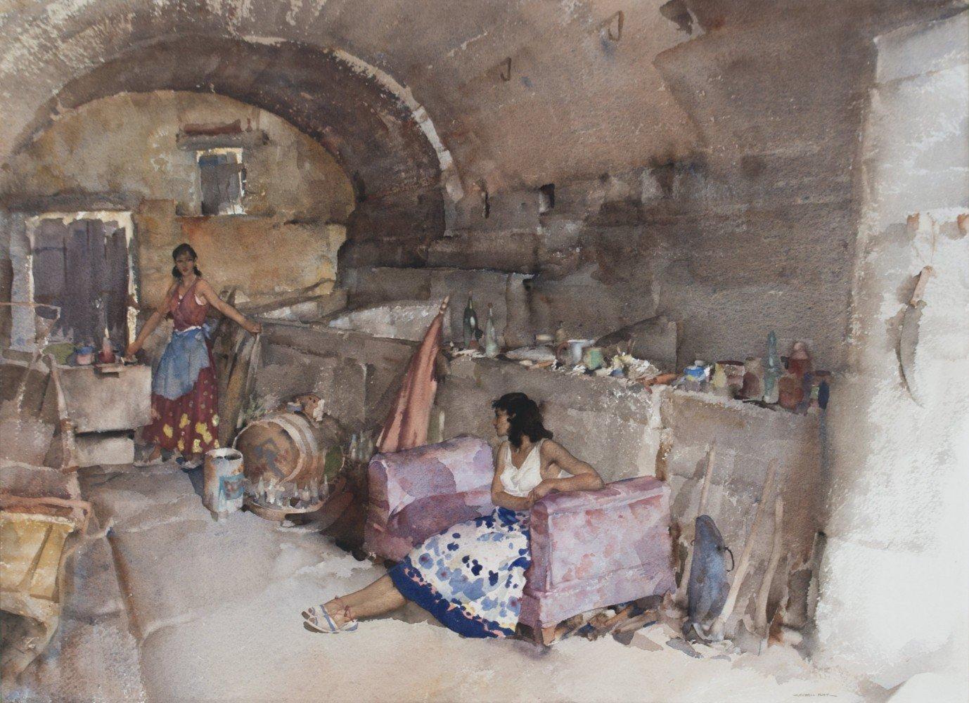 A Provençal Vault by Sir William Russell Flint