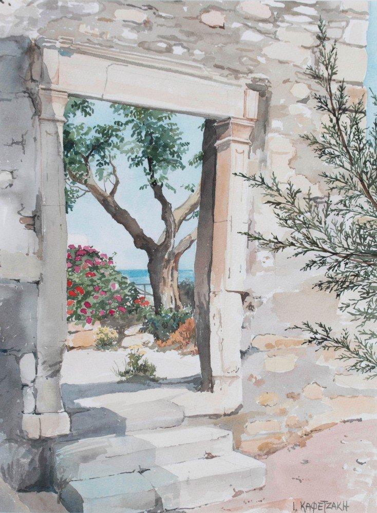 I. Kapetzakh (Russian) Mediterranean Garden Overlooking the Sea