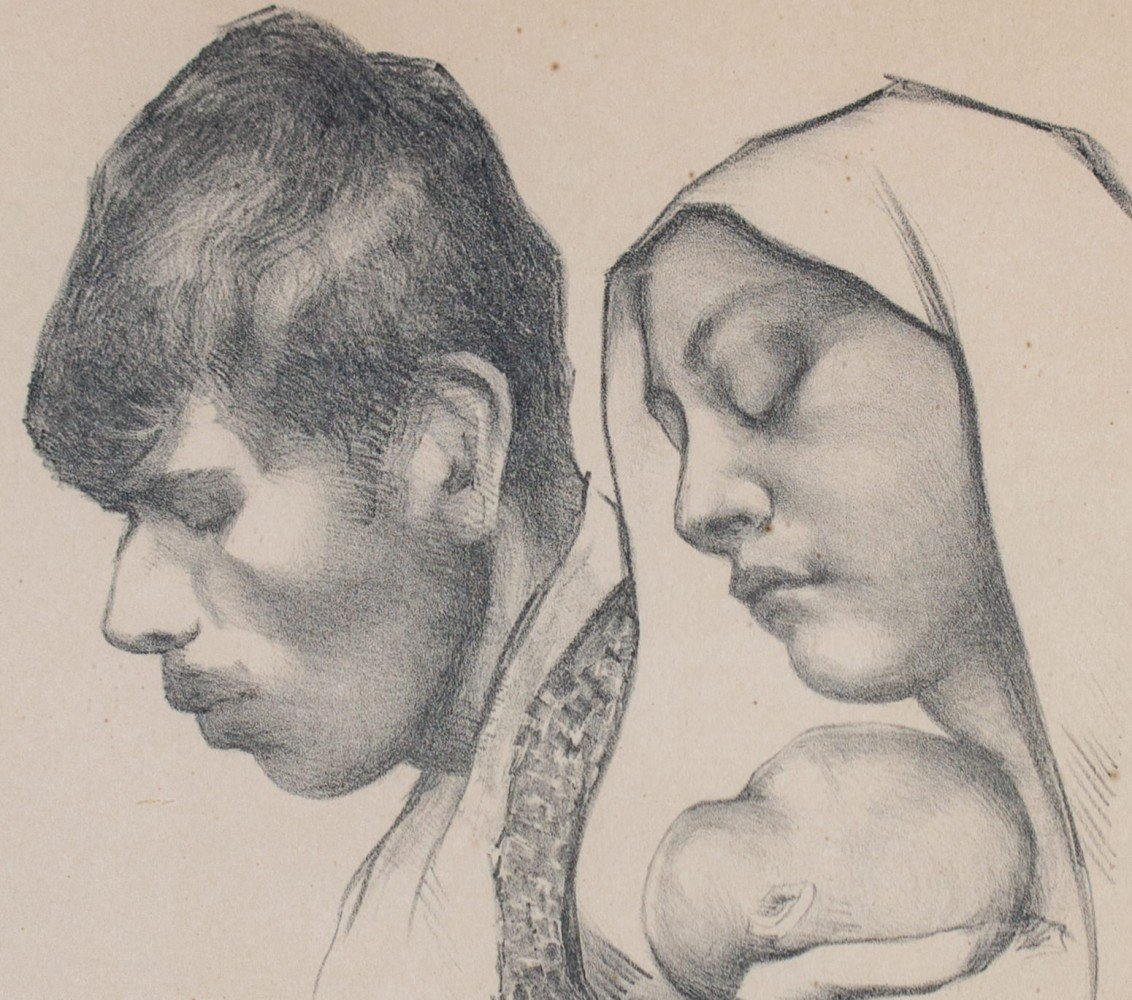 Mina Pulsifer (American 1899-1989) La Familia