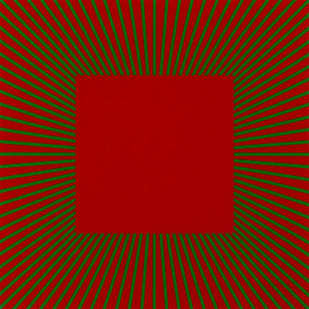 Red with Green by Richard Anuszkiewicz