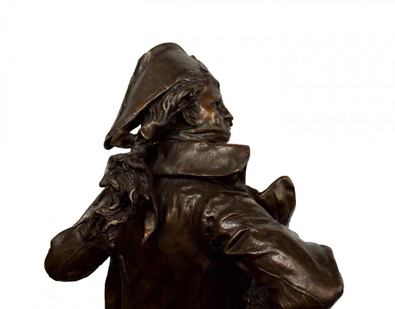 Figurative Bronze with Brown Patination Sculpture: