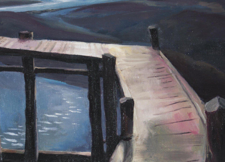 The Wharf by Carl Frederick Gaertner