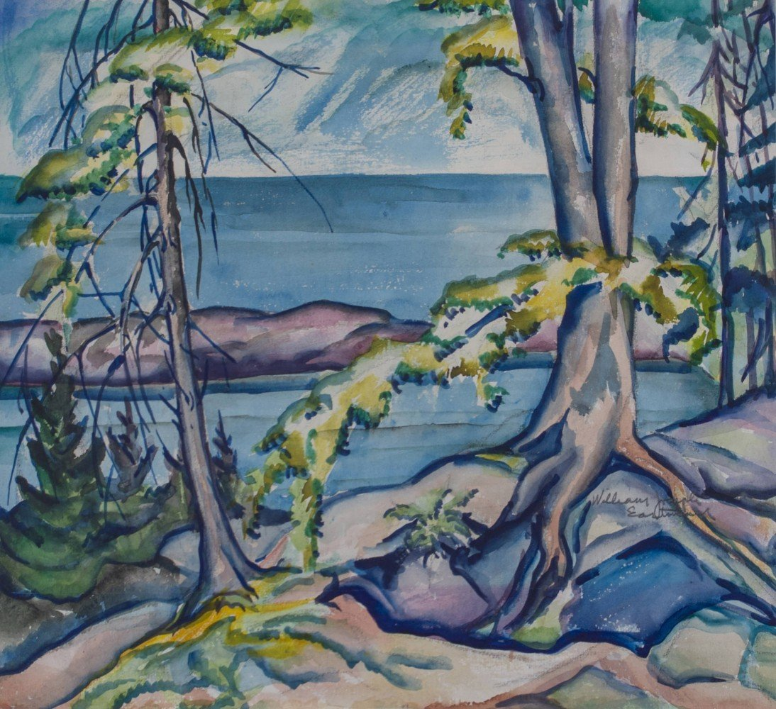 Trees by the Shore by William Eastman