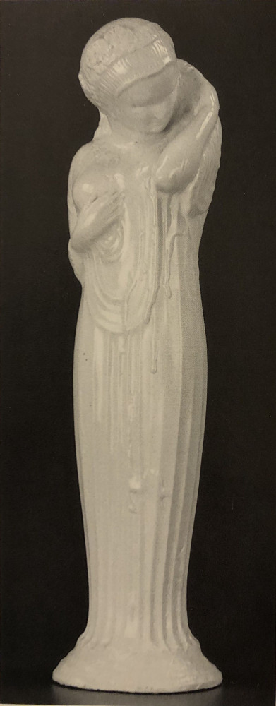 Tall Glazed Pottery Figure of a Goddess by Alfonso Iannelli