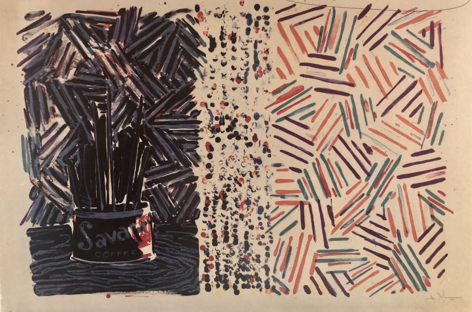 Untitled (Fields 258) by Jasper Johns
